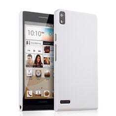 Custodia Plastica Rigida Opaca per Huawei Ascend P6 Bianco