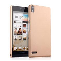 Custodia Plastica Rigida Opaca per Huawei Ascend P6 Oro