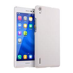 Custodia Plastica Rigida Opaca per Huawei Ascend P7 Bianco