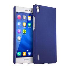 Custodia Plastica Rigida Opaca per Huawei Ascend P7 Blu