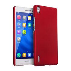 Custodia Plastica Rigida Opaca per Huawei Ascend P7 Rosso
