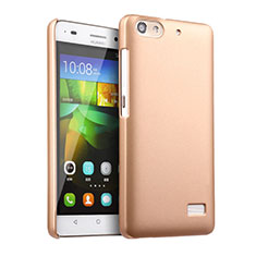 Custodia Plastica Rigida Opaca per Huawei G Play Mini Oro