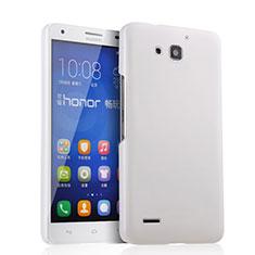 Custodia Plastica Rigida Opaca per Huawei Honor 3X G750 Bianco