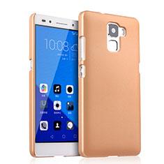 Custodia Plastica Rigida Opaca per Huawei Honor 7 Oro