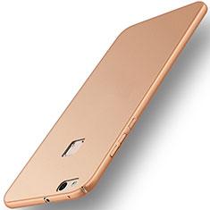 Custodia Plastica Rigida Opaca per Huawei P10 Lite Oro