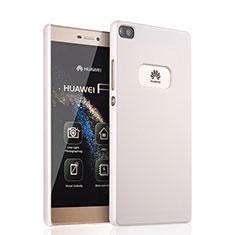Custodia Plastica Rigida Opaca per Huawei P8 Bianco