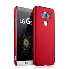 Custodia Plastica Rigida Opaca per LG G5 Rosso