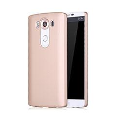 Custodia Plastica Rigida Opaca per LG V10 Oro Rosa