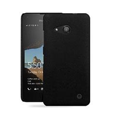 Custodia Plastica Rigida Opaca per Microsoft Lumia 550 Nero
