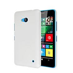 Custodia Plastica Rigida Opaca per Microsoft Lumia 640 Bianco