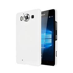 Custodia Plastica Rigida Opaca per Microsoft Lumia 950 Bianco