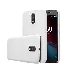 Custodia Plastica Rigida Opaca per Motorola Moto G4 Plus Bianco