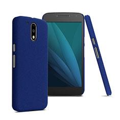 Custodia Plastica Rigida Opaca per Motorola Moto G4 Plus Blu