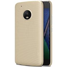 Custodia Plastica Rigida Opaca per Motorola Moto G5 Plus Oro