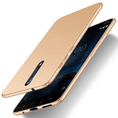 Custodia Plastica Rigida Opaca per Nokia 8 Oro