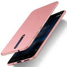 Custodia Plastica Rigida Opaca per Nokia 8 Oro Rosa