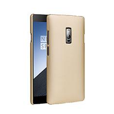 Custodia Plastica Rigida Opaca per OnePlus 2 Oro