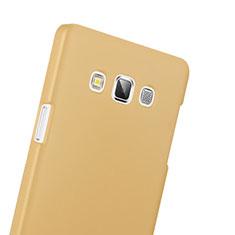 Custodia Plastica Rigida Opaca per Samsung Galaxy A3 Duos SM-A300F Oro