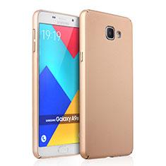 Custodia Plastica Rigida Opaca per Samsung Galaxy A9 Pro (2016) SM-A9100 Oro
