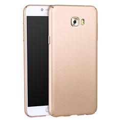 Custodia Plastica Rigida Opaca per Samsung Galaxy C7 Pro C7010 Oro