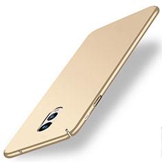 Custodia Plastica Rigida Opaca per Samsung Galaxy C8 C710F Oro