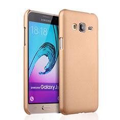 Custodia Plastica Rigida Opaca per Samsung Galaxy J3 (2016) J320F J3109 Oro
