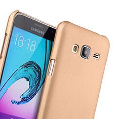 Custodia Plastica Rigida Opaca per Samsung Galaxy J3 Oro