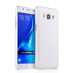 Custodia Plastica Rigida Opaca per Samsung Galaxy J5 (2016) J510FN J5108 Bianco