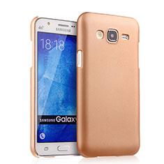 Custodia Plastica Rigida Opaca per Samsung Galaxy J5 SM-J500F Oro