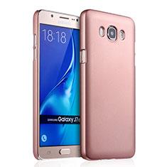 Custodia Plastica Rigida Opaca per Samsung Galaxy J7 (2016) J710F J710FN Oro Rosa