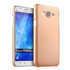 Custodia Plastica Rigida Opaca per Samsung Galaxy J7 SM-J700F J700H Oro