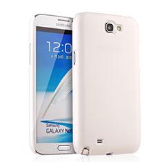 Custodia Plastica Rigida Opaca per Samsung Galaxy Note 2 N7100 N7105 Bianco