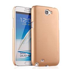 Custodia Plastica Rigida Opaca per Samsung Galaxy Note 2 N7100 N7105 Oro