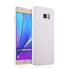 Custodia Plastica Rigida Opaca per Samsung Galaxy Note 5 N9200 N920 N920F Bianco