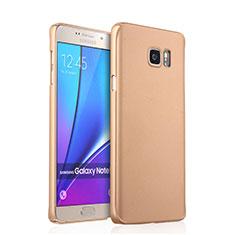 Custodia Plastica Rigida Opaca per Samsung Galaxy Note 5 N9200 N920 N920F Oro