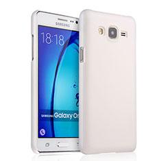 Custodia Plastica Rigida Opaca per Samsung Galaxy On5 G550FY Bianco