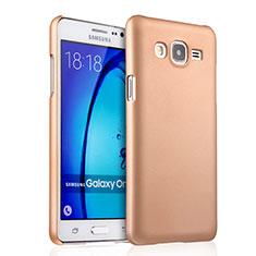 Custodia Plastica Rigida Opaca per Samsung Galaxy On5 G550FY Oro