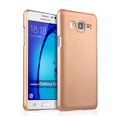 Custodia Plastica Rigida Opaca per Samsung Galaxy On7 Pro Oro