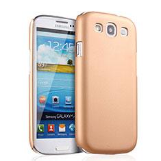 Custodia Plastica Rigida Opaca per Samsung Galaxy S3 III LTE 4G Oro