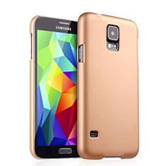 Custodia Plastica Rigida Opaca per Samsung Galaxy S5 G900F G903F Oro