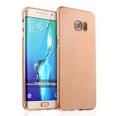 Custodia Plastica Rigida Opaca per Samsung Galaxy S6 Edge+ Plus SM-G928F Oro