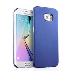 Custodia Plastica Rigida Opaca per Samsung Galaxy S6 Edge SM-G925 Blu