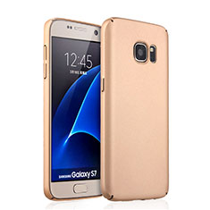 Custodia Plastica Rigida Opaca per Samsung Galaxy S7 G930F G930FD Oro