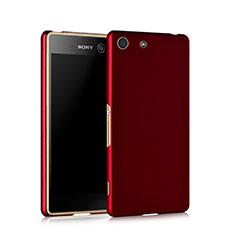 Custodia Plastica Rigida Opaca per Sony Xperia M5 Rosso
