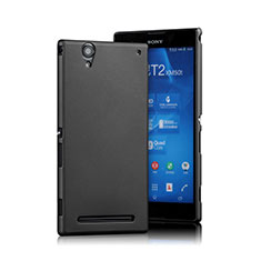 Custodia Plastica Rigida Opaca per Sony Xperia T2 Ultra Dual Nero