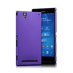 Custodia Plastica Rigida Opaca per Sony Xperia T2 Ultra Dual Viola