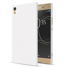 Custodia Plastica Rigida Opaca per Sony Xperia XA1 Ultra Bianco