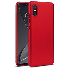 Custodia Plastica Rigida Opaca per Xiaomi Mi 8 Screen Fingerprint Edition Rosso