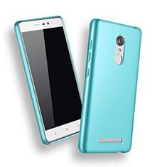 Custodia Plastica Rigida Opaca per Xiaomi Redmi Note 3 MediaTek Cielo Blu
