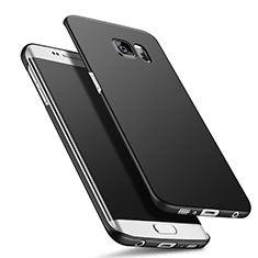 Custodia Plastica Rigida Opaca Q02 per Samsung Galaxy S6 Edge+ Plus SM-G928F Nero